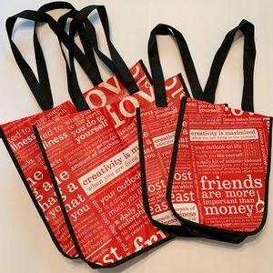 Bundle of 4 Lululemon Reusable Shopping Totes